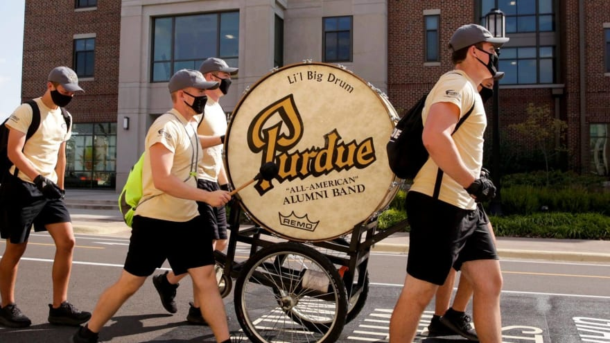 Purdue's famous drum too big to take to Notre Dame Stadium