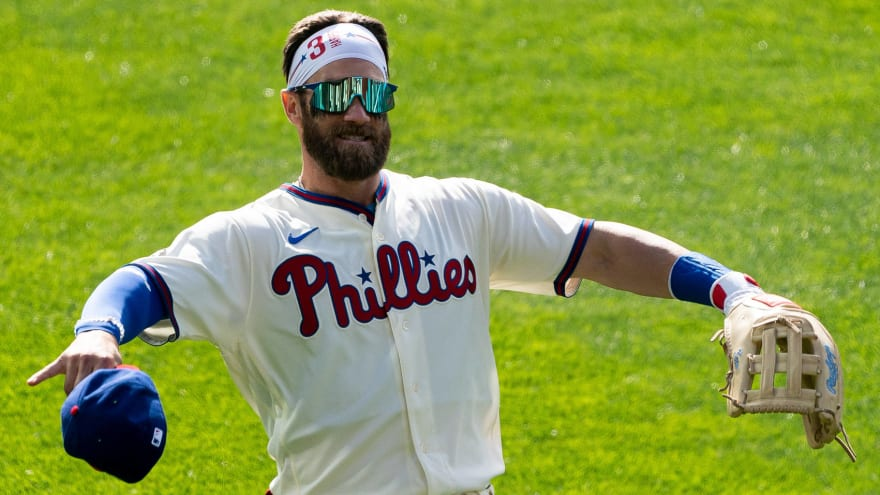 Bryce Harper has positive update after being hit by pitch