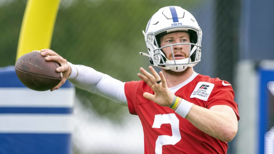 Colts QB Carson Wentz to start Sunday vs. Seahawks
