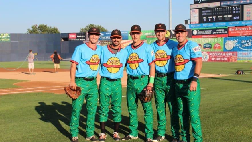 A look at weird baseball uniforms
