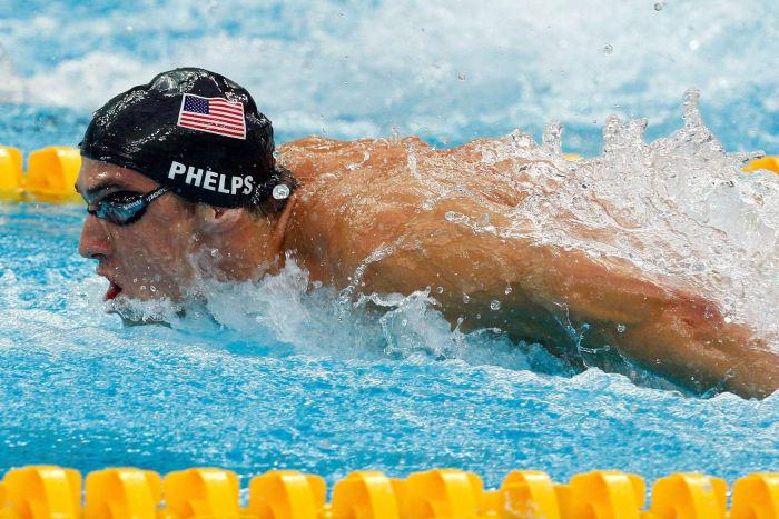 28: Michael Phelps, Swimming, USA