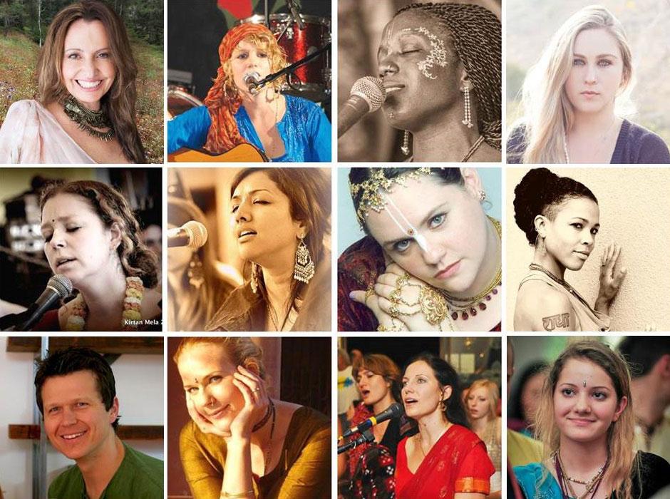 group of talented female kirtan singers