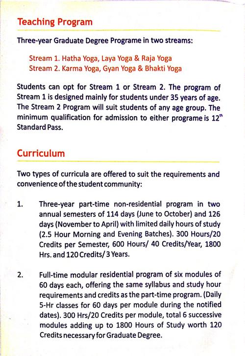 Lakulish Yoga University Brochure