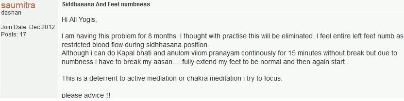 siddhasana yoga question