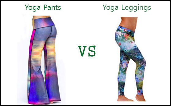 Difference between Yoga Pants and Yoga Leggings