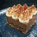 Dark Chocolate & Hazelnut Crunch Mousse Cake