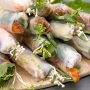 Mixed rice paper rolls