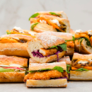 Crumbed chicken baguette