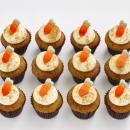 Carrot mini cupcakes (12 pcs)