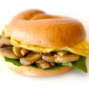 Bagel - Egg, Mushroom & Spinach