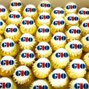 Classic logo cupcakes