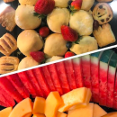 Assorted sweets & fruit