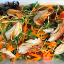 Garden salad with chicken