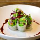 Vegetarian rice paper rolls