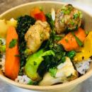 Chicken Stir fry + rice