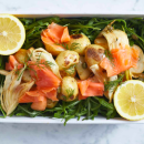 Smoked salmon & potato salad (DF)