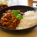Chicken tikka masala + rice (medium spicy)