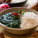 Aloo jeera + rice (medium spicy)