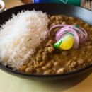 Chickpea curry + rice (medium spicy) (DF)