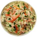 Blended coleslaw salad