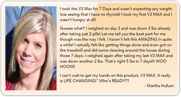 5 pounds in 7 days with v3 max