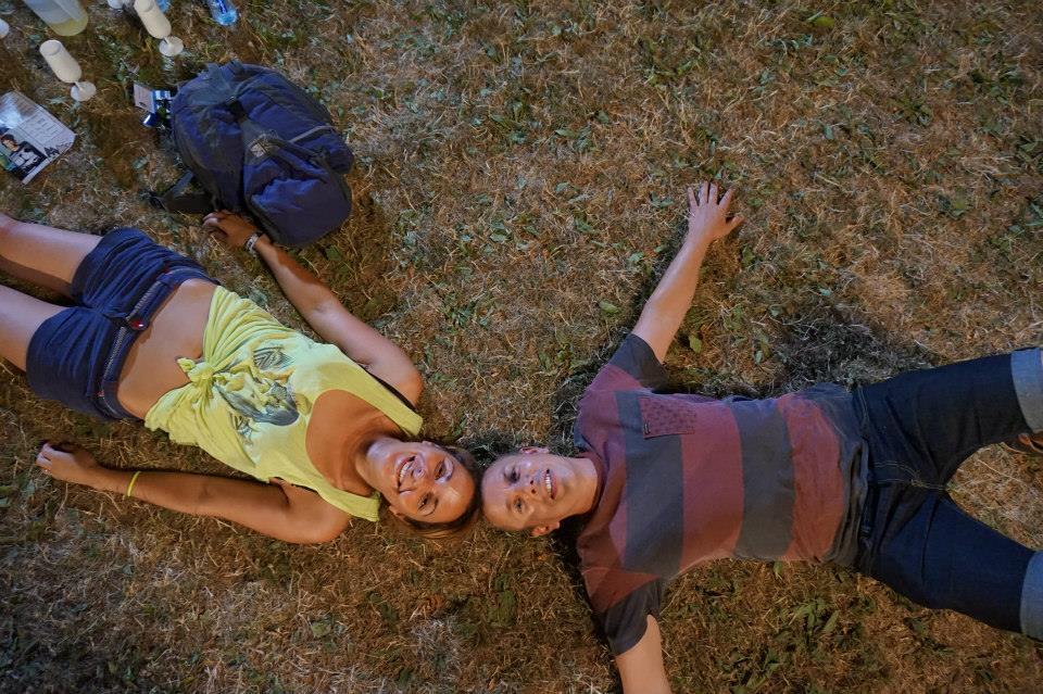 Damian and Hana at a summer music festival in Aix le Bain
