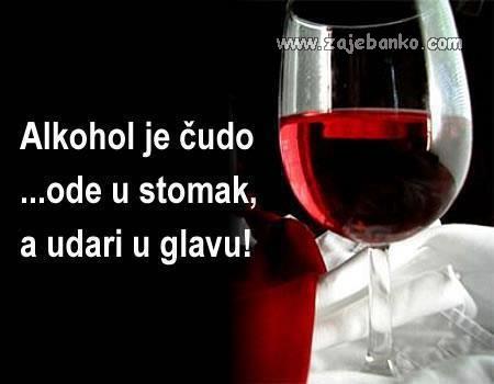 vino udara u glavu