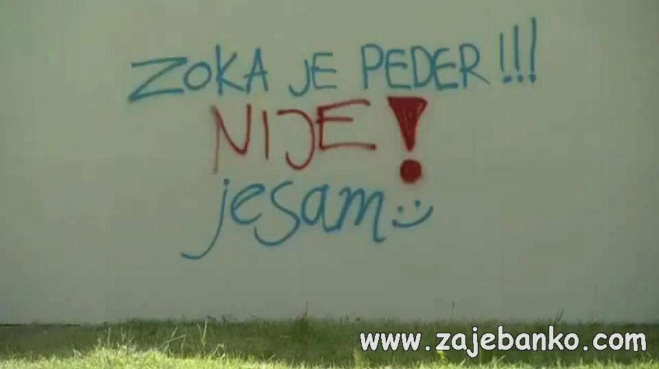 smiješan grafit na zidu