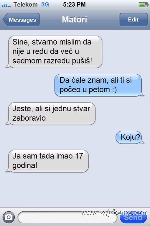 smiješna sms poruka