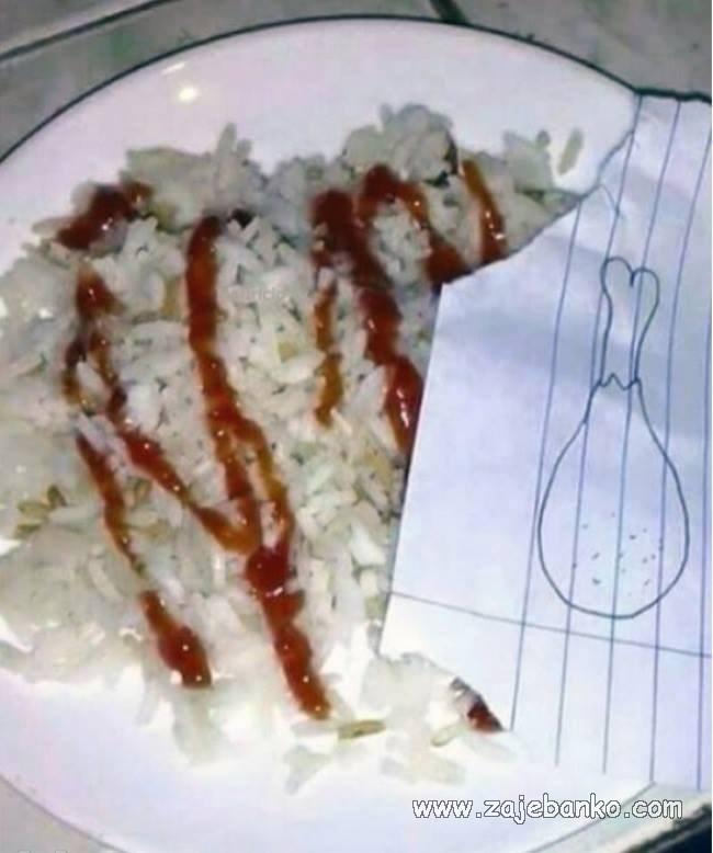 siromašan ručak bez mesa smiješna slika