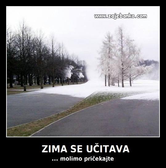 dolazi zima smiješna slika