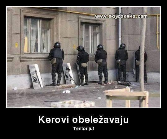 policajci obilježaju prostor