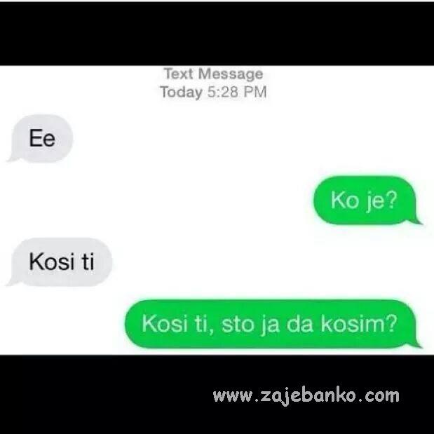 smiješne sms poruke