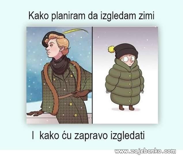 zimski outfit smiješna slika