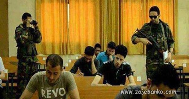 asistenti tokom ispita te drže na nišanu