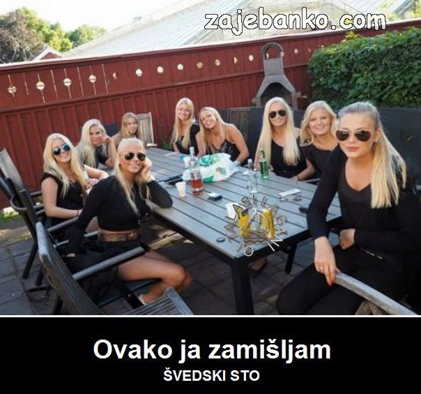 švedski stol smiješna slika