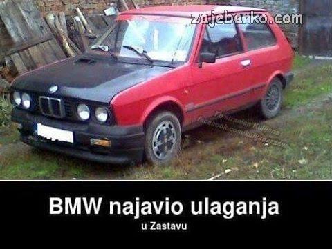 Kad BMW ulaže u Zastavu