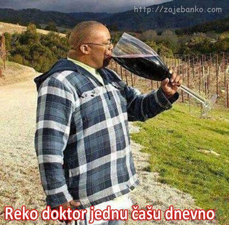 reko doktor jednu čašu dnevno