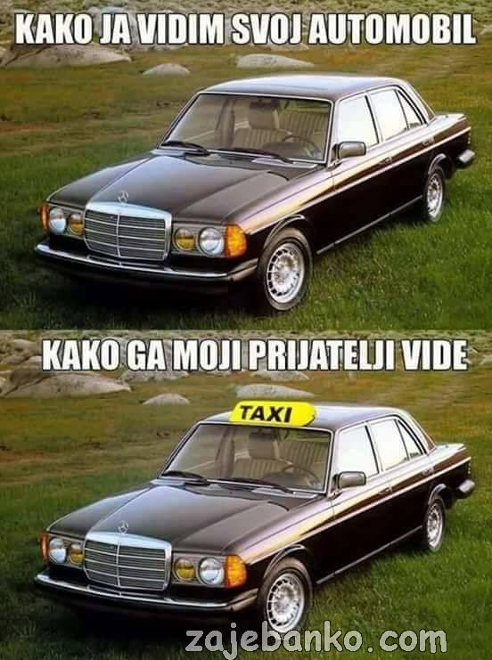 taksi smiješna slika
