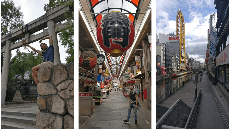 Osaka Castle, market and places