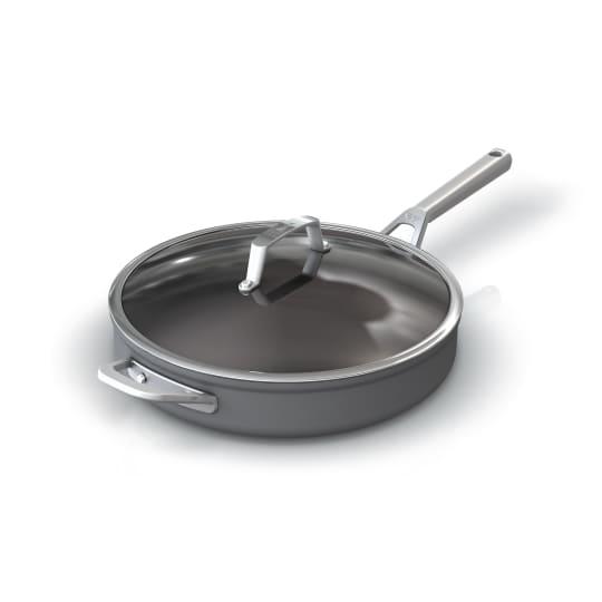 Premium Hard-Anodized 4-quart Sauté Pan with Glass Lid Ninja™ Foodi™ NeverStick™  product photo