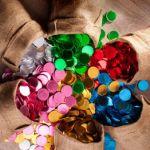 AN0011  מטבעות שוקולד בעטיפת רדיד צבעונית