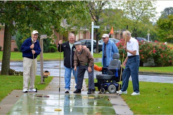 Otterbein Retirement Living Community- Portage Valley shuffleboard 2