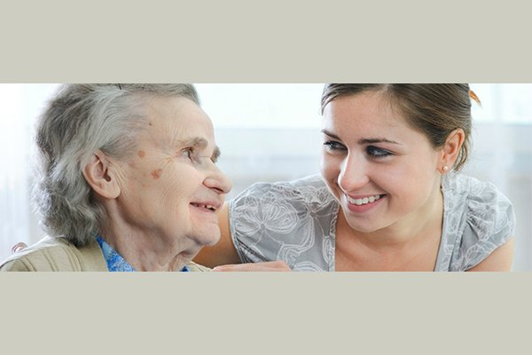 Caregiver with client