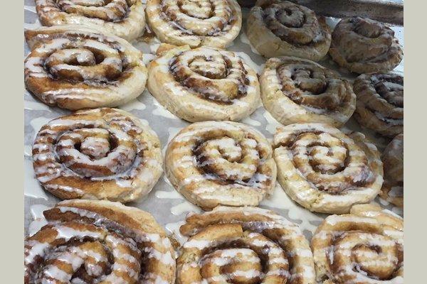 Fresh Baked cinnamon rolls for breakfast!
