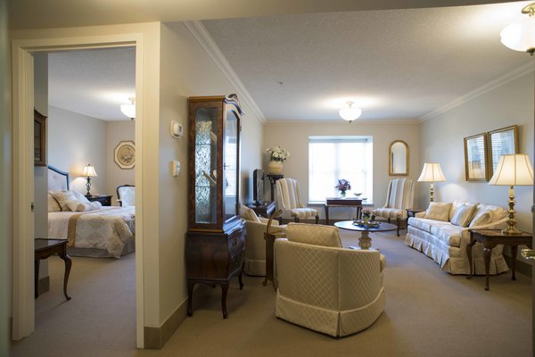 Our spacious suites are bright and airy, and the perfect retreat (especially when filled with all of your own furniture and treasures!)