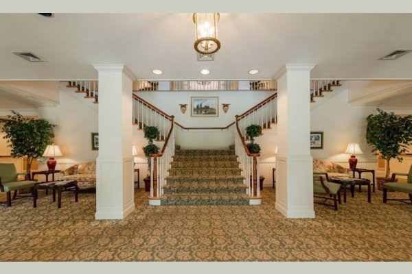Welcome Home!  The grand staircase greets you when you enter The Club.