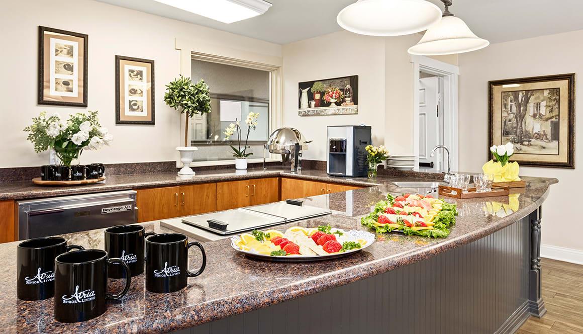 Encino Terrace Senior Living Kitchen