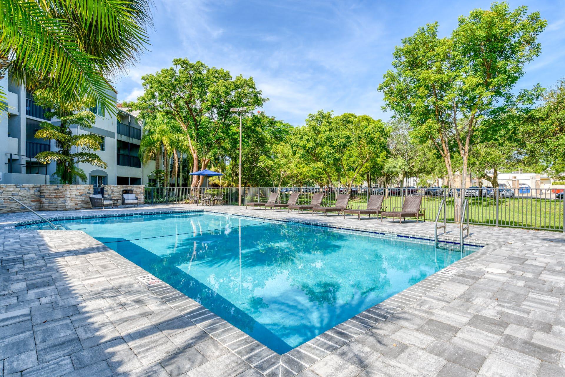 Pacifica Senior Living Sunrise Swimming Pool