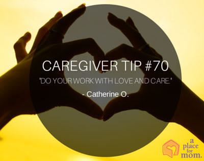 Caregiver Tip 70 Love and Care